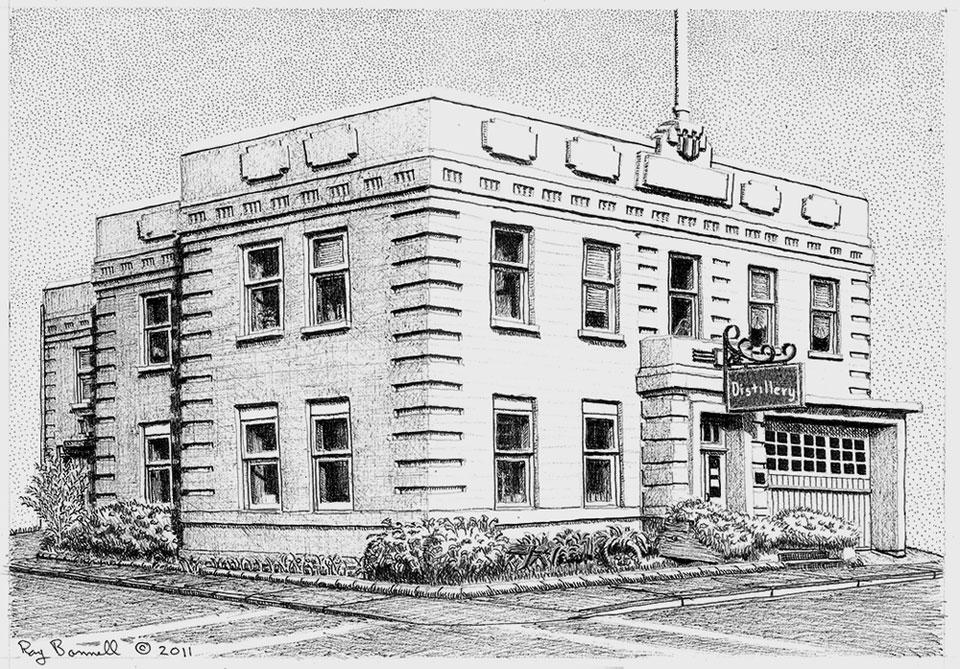 Fairbanks Distilling Company in Historic Old City Hall